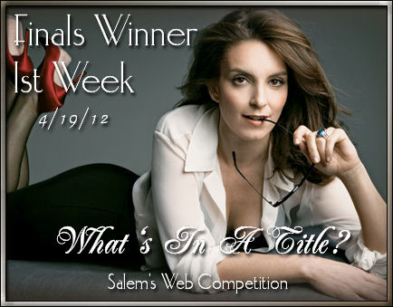 Thanks to 'Salem's Web Competition', for this graphic award!